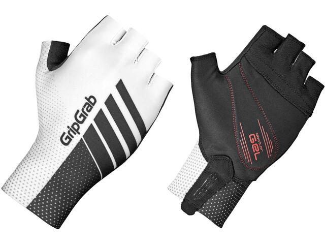 GripGrab Aero TT Raceday Kurzfinger-Handschuhe white/black